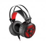 360 earmuff NEON LIGHTING black-red (NSG-1107)