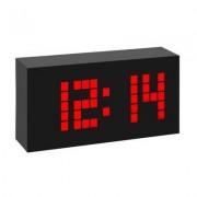 geschenkidee.ch TFA Funk-Wecker Time Block, rot Weckalarm mit Snooze-Funktion