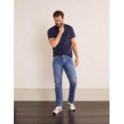 Boden Denim, Blaue Waschung Jeans mit geradem Bein Herren Boden, 33 36in, Denim