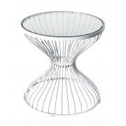 Replica Wire lamp table-powdercoated white