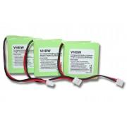 3 x batteries Ni-MH 500mAh (2,4 V) pour Siemens Gigaset E45, E450, E455, Swisscom Aton CL-102 notamment. Remplace V30145-K1310-X382