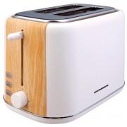 Prajitor de paine Heinner HTP-WH800BB, 800 W, 2 felii, Dezghetare, 7 niveluri de rumenire, Alb