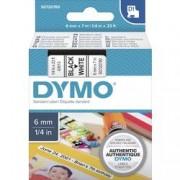DYMO Páska do štítkovače DYMO 43613 (S0720780), 6 mm, D1, 7 m, černá/bílá