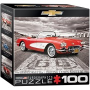 EuroGraphics 1959 Corvette on Route 66 Mini Puzzle (100 Piece)