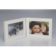 smartphoto Foto-Doppelrahmen 10 x 15 Weiss