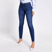 river island Womens Blue bum sculpting Molly mid rise jeggings (6R)