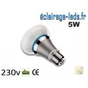 Ampoule led E27 queen 5w SMD blanc naturel 4500K 230v AC ref q001-1