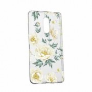 Husa Silicon Transparent Slim Floral 126 Sony XA2 ULTRA