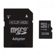 König 32GB microSDHC UHS-I CL10 memóriakártya + adapter
