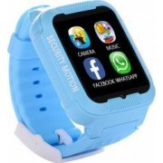 Ceas GPS Copii iUni Kid3 Telefon incorporat Touchscreen 1.54 inch Bluetooth Notificari Camera Albastru