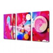 Tablou Canvas Premium Abstract Multicolor Puncte Colorate Pe Fundal Colorat Decoratiuni Moderne pentru Casa 3 x 70 x 100 cm