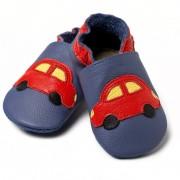 Pantofi cu talpa moale Liliputi Blue Cars V8