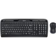 Logitech Wireless Combo MK330 - Toetsenbord en muis set - draadloos - 2.4 GHz - Noord-Europees - zwart