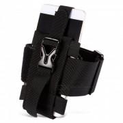 CTSmart multifuncional banda ajustable al aire libre del brazo del telefono movil para montar alpinismo noche de pesca corriendo - negro