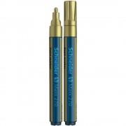 Marker cu Vopsea SCHNEIDER MAXX 270, Scriere 1-3 mm, Culoare Aurie, Marker Colorat, Marker pentru Birou