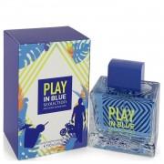 Play in Blue Seduction by Antonio Banderas Eau De Toilette Spray 3.4 oz