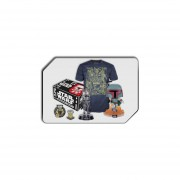 Funko Pop Caja De Boba Fett Star Wars Playera Mediana Y 2 Pops Parche Pin Smugglers Bounty-Multicolor