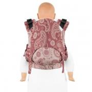 Marsupiu Ergonomic,Fidella Fusion 2.0 Toddler Wrap Conversion, Persian Paisley - ruby red