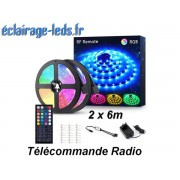 Bandeau LED RGB 12m (2x6m) IP20 éclairage piloté par signal radio. ref bl-09