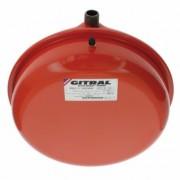 """GITRAL VPC-A-8 lapos kerek fűtési tágulási tartály 8l, 3/4"""", 3bar, 90°C"""