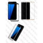 Заоблен стъклен протектор за Samsung Galaxy S8 Plus (Темперирано закалено стъкло) 'Full Screen - Amorus' 7.3cm/15.6cm