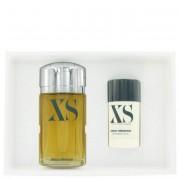 Paco Rabanne XS Eau De Toilette Spray 3.4 oz / 100.55 mL + Deodorant Stick 2.2 oz / 65 mL Gift Set Fragrance 457671