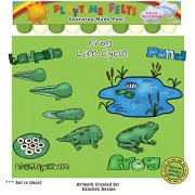 Playtime Felts Frog Life Cycle Story Set for Flannel Board - Uncut