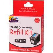 Turbo ink refill kit for HP 802 Black ink cartridge