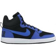 Nike Men's Court Borough Mid Basketball Shoe, Black/Paramount Blue-White, 7 M US