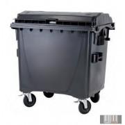 Külső hulladéktároló, Lapos fedelű műanyag konténer - 1100 L