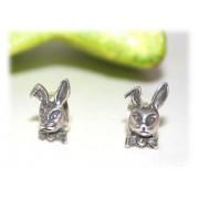 Boucles d'oreilles Lapin Noeud Papillon Argent