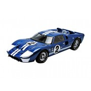 1966 Ford GT-40 MK II 1:18 Scale #2 Race Version (Blue/White Stripes)