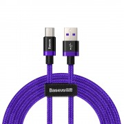 Cablu de date/incarcare Baseus, Purple Gold Red, USB Type-C, Super Charge, 2M 5 A, Mov