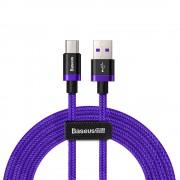 Cablu de date/incarcare Baseus, Purple Gold Red, USB Type-C, Super Charge, 2M 5 A, Mov