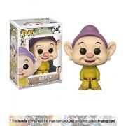 Dopey: Funko POP! Disney x Disney - Snow White Vinyl Figure + 1 Classic Disney Trading Card Bundle (21718)