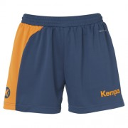 Kempa Damen-Short PEAK - petrol/orange | M