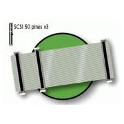 D-19610 CABLE PLANO PARA SCSI 50 PINES 3 CONECTORES --
