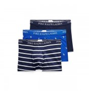 Polo Ralph Lauren Stretch Cotton Trunk 3-Pack - 3pk Sphr Aopp/Nvy Stripe/ - Size: Large