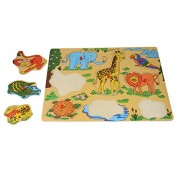 INSTABUYZ Educational Learning Puzzles for Kids Ages 3+ Years | Wild Animals Puzzle Dimensions (30x22cm)