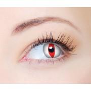 Lentes Coloridas Clear Colors Fashion Olho de gato Branca com vermelho