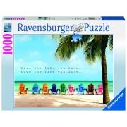 Ravensburger puzzle plaja, 1000 piese