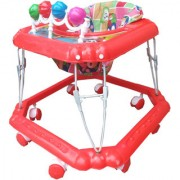 Oh Baby Square Shape Pilastic Boby Red Color Walker For Your Kids SE-W-82