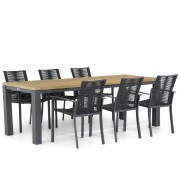 Santika Furniture Santika Annisa/Veneto 230 cm dining tuinset 7-delig