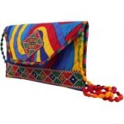Craft Trade Rajasthani Women Clutch Bag Handcrafted Embroidery Work Designer Purse Multicolor Sling Bag