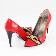 Pantofi piele naturala dama - rosu, Nike Invest - toc inalt - M424-R-Gal-L