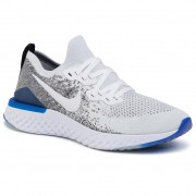 Обувки NIKE - Epic React Flyknit 2 BQ8928 102 White/White/Black/Racer Blue