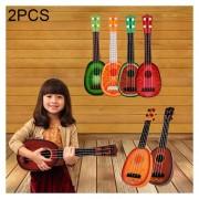 2 Pcs Niños Música Ilustración Ukeleles, Tamaño: 36 * 11.5cm, Color Al Azar Entrega