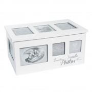Maisons du Monde Caja con 8 álbumes de fotos de madera blanca 20x34
