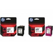 C2P10AE Tintapatron Deskjet Ink Advantage 5575 nyomtatóhoz, HP 651, fekete, 600 oldal (TJHC2P10A)