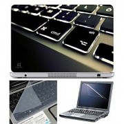 FineArts Laptop Skin Keypad White Led With Screen Guard and Key Protector - Size 15.6 inch